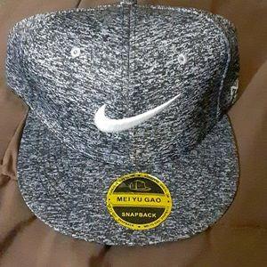 Nike Black & White Snapback Hat
